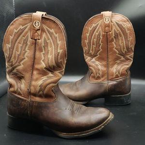 🤠 Tony Lama 3R Leather Western Boots Size 9👢🤎